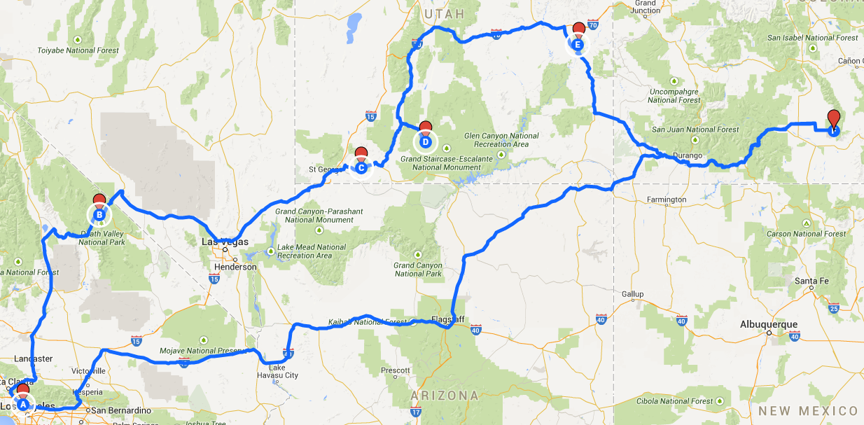 How to plan a road trip route with google maps initial route gumiabroncs Image collections