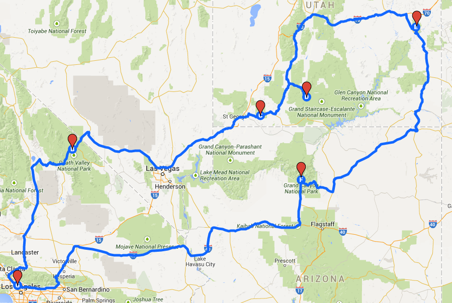 How To Plan A Road Trip Route With Google Maps Digital Map Pinning For Us