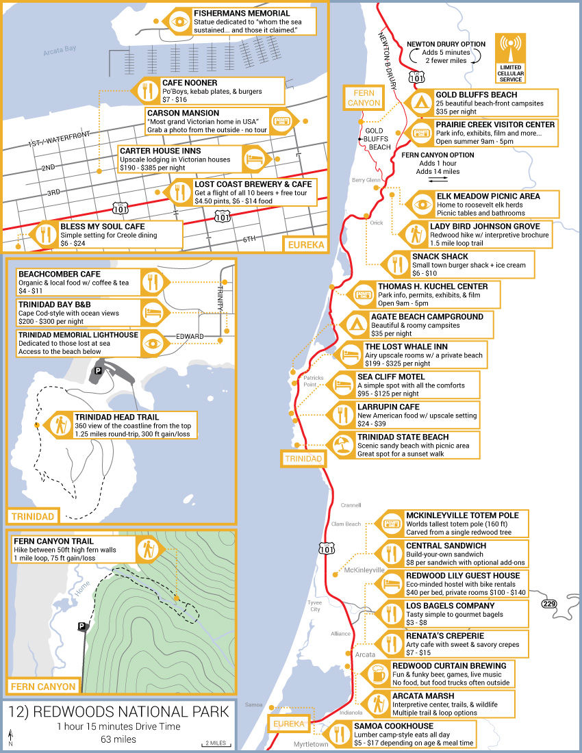 Road Trip Itinerary San Diego To San Francisco In Two Days Road - Pacific highway usa map